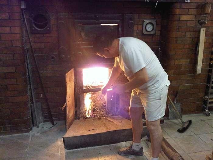 Кирпичная печь с водяным контуром длительного горения  чертежи